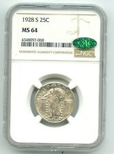 1928-S Standing Liberty Quarter (MS-64) WHITE COIN!! NGC & CAC! NO RESERVE!!