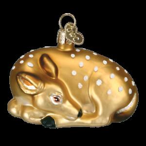 Old-World-Christmas-FAWN-12201-N-Glass-Ornament-w-OWC-Box