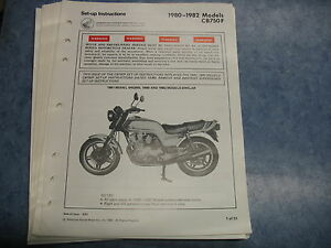 80 81 cb750 f cb750f cb honda factory oem assembly set up manual rh ebay co uk