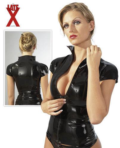 Damen Latex Shirt schwarz Gummi fetisch Bondage   Wir Wir Wir haben von unseren Kunden Lob erhalten.    Einfach zu bedienen    Starke Hitze- und Abnutzungsbeständigkeit    Stabile Qualität    Internationale Wahl  f12ddb