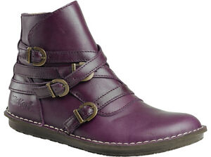 Schuhe Leder Neue Farbe Kickers Wraps Stiefelette Damenschuhe Lila Violet w5qpUt