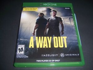 A Way Out Xbox One 1 Xb1 Box 100% Original Replacement Case no Game