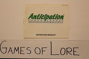 Anticipation-Original-NES-Manual-ONLY-Nintendo-Entertainment-System