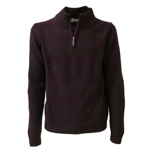 Homme Ray Fermetureclair Cou Pull Panicale Prune Avec AqfTw1