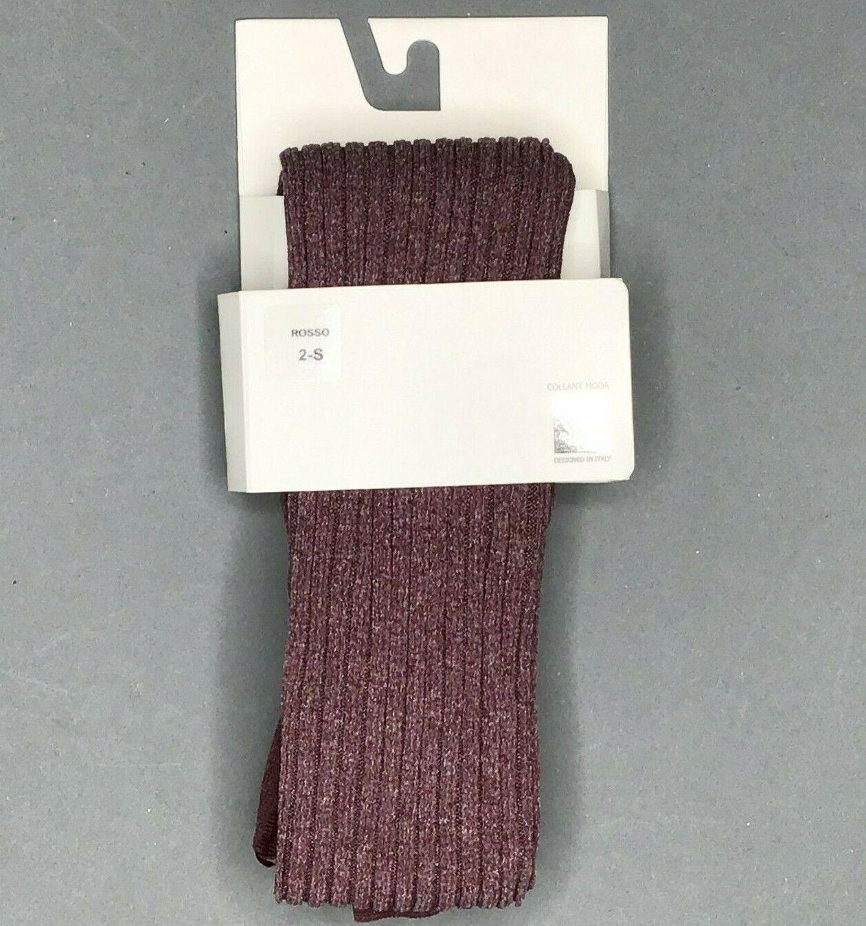 Modische Strumpfhose Gerippte Designed in Italy by SiSi Lila Neu