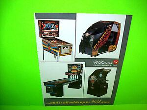 Williams-1984-Firepower-II-Pinball-amp-Arcade-Games-Promo-Advertising-Ad-Artwork