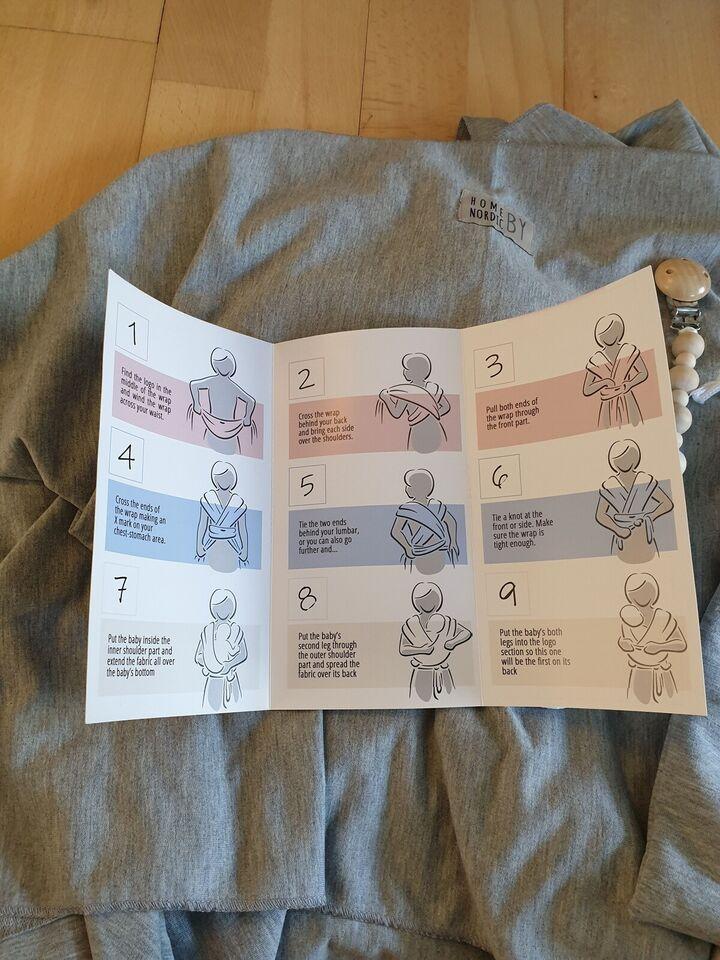 Babyslynge, Vikle med suttesnor og stofpose, HOME BY