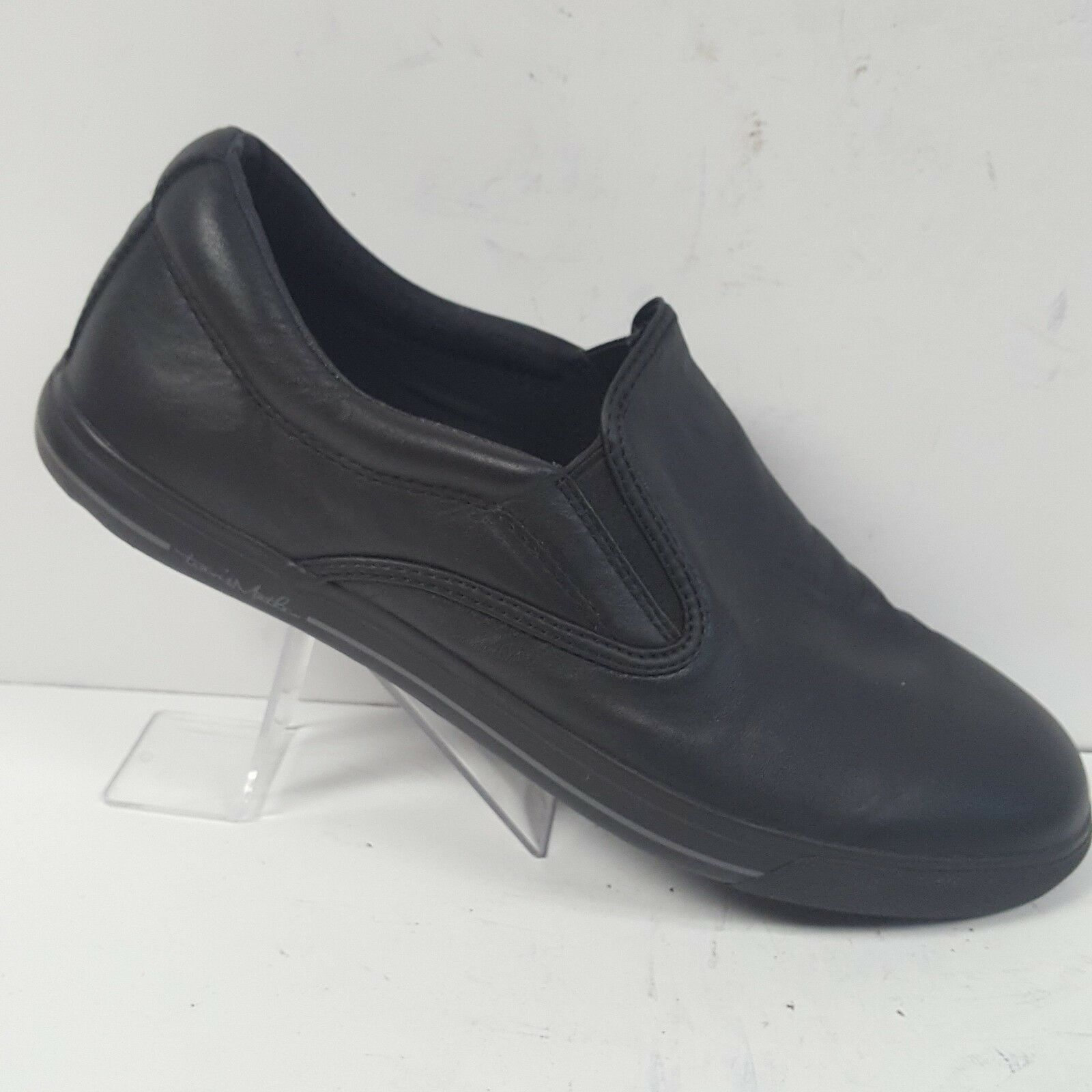 Travis Mathew Raiders Slip On Black Leather Leather Leather Loafers Shoes Mens Size 11 6f1779