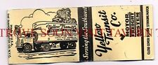 Yellow Transit Moving Truck Tulsa Joplin California Matchcover