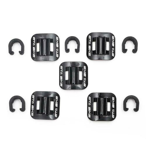 5pcs Bike Brake Cable Guide Clips Bicycles Aluminium Alloy C Buckles Clamps