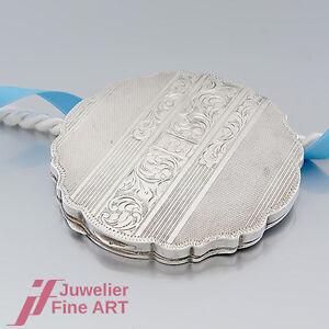PUDERDOSE-antik-900-Silber-mit-Monogramm-und-Handgravur-verziert-TOP-ANGEBOT