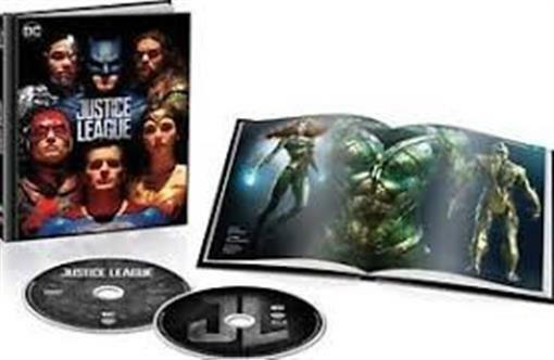 Justice League BLURAY DVD Digital 64 Page Book 3d Cover Target