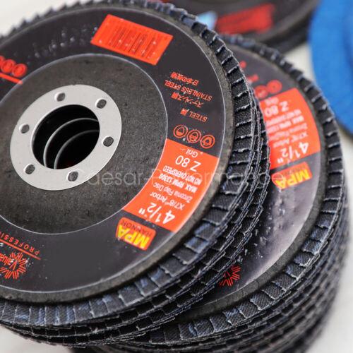 "60 GRIT 50 PACK PREMIUM ZIRCONIA FLAP DISC SANDING GRINDING 4-1//2/"" X 7//8/"""