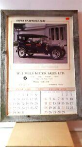 W-J-Mills-Chrysler-Goderich-Ontario-Framed-Packard-calendar-exc-cond