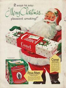 1951-Camel-Cigarettes-amp-Prince-Albert-Crimp-Cut-Cigarette-Tobacco-Santa-Print-Ad