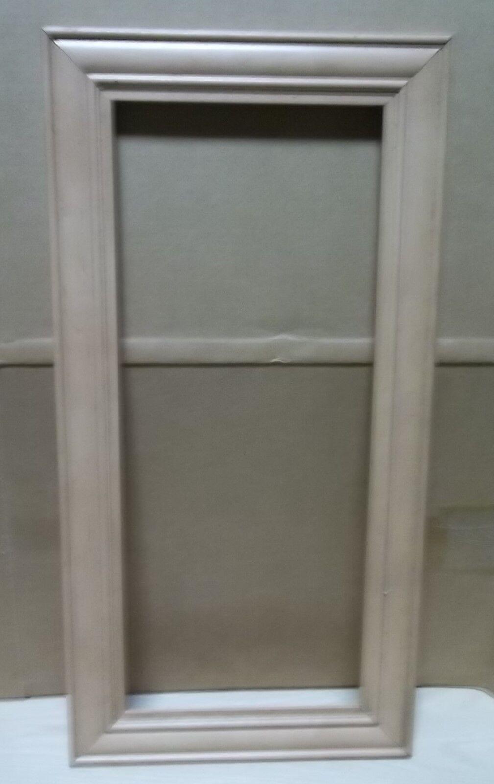 2 FRAME CABINET DOORS PAINT GRADE MAPLE OPEN FRAME, FANCY EDGE 17 3 4 X 28 3 4