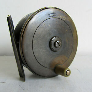H-W-Cave-amp-Co-of-Colombo-3-034-Plate-Wind-Brass-Reel