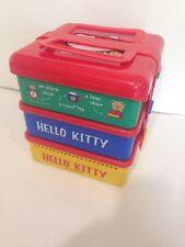 Vtg Hello Kitty Plastic Lunch Bento Snack Picnic Set Sanrio 1989 Japan Plates