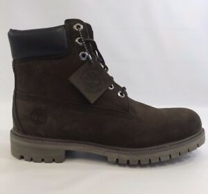 9e9af43fcaf Details about Timberland 6 Inch Premium Boot TB010001 Dark Brown Chocolate  Mens NEW IN BOX