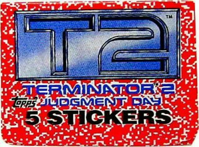 Sticker Fiery Escape #13 T2 Terminator 2 Topps 1991 Large Trading Card