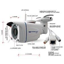 Microseven M7B77-WS 1080P HD Wireless IP Camera POE 128GB Audio Outdoor IR P2P