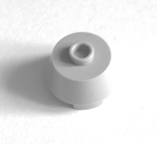 Lego 98103 2 x 2 x 1 .15 round wt top hole pack of 2 light stone grey