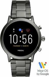 Fossil - Gen 5 Smartwatch 44mm Stainless Steel - Smoke with Smoke Stainless S...