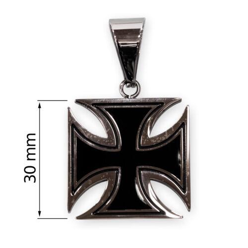 Remolque de cadenas de acero inoxidable hierro cruz ek soldados ejército negro plata