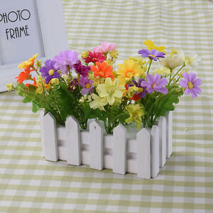 eBay & Details about Louis Garden Artificial Flower Fake Rose in Picket Fence Pot Pack - Small Plant