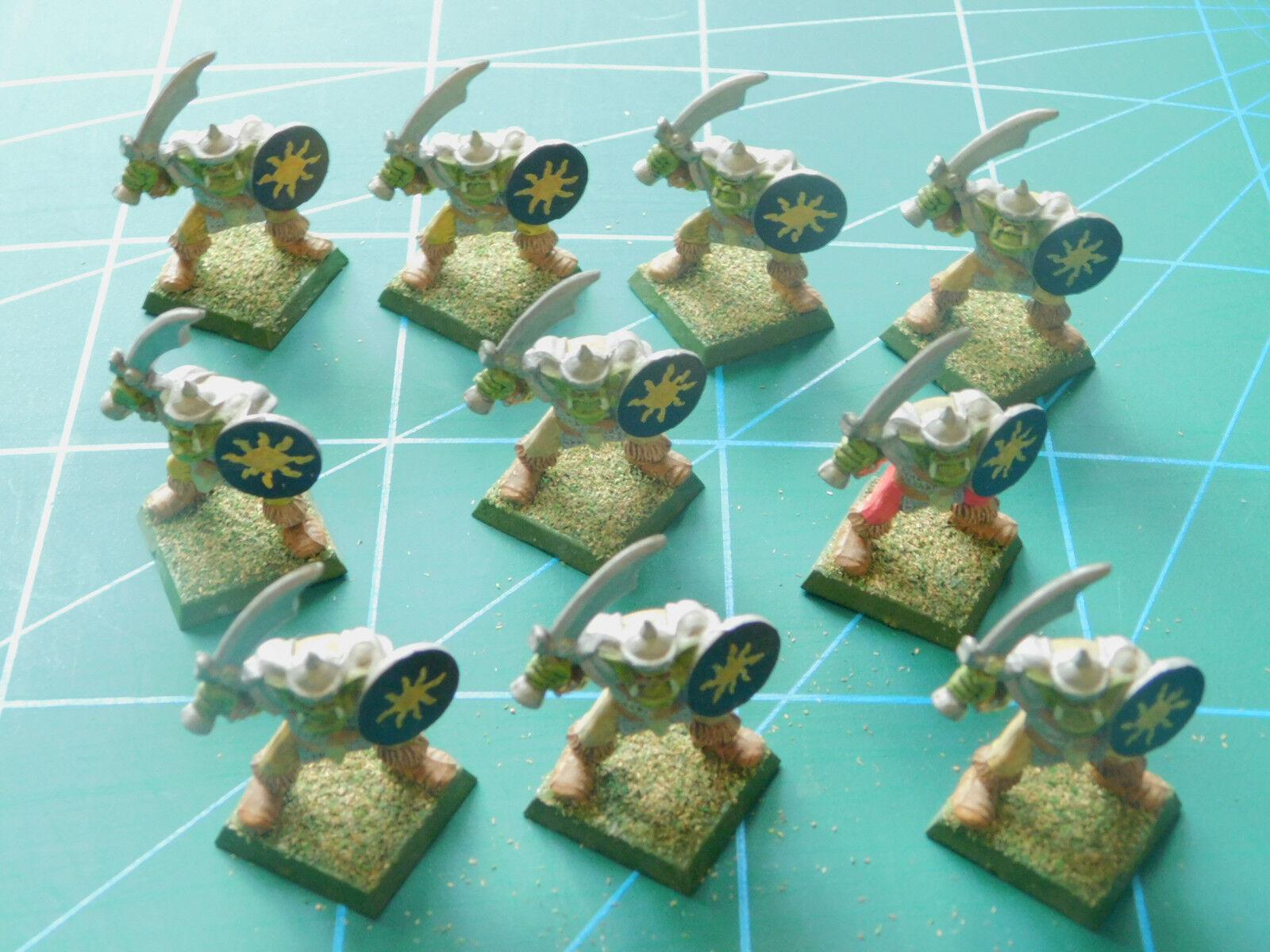 10 warhammer 40k Orcs Hobgoblins men painted plastic plastic plastic figures 8d57ff