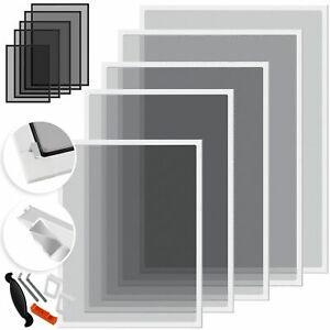 KESSER-Fliegengitter-Insektenschutz-Fenster-Alurahmen-Bausatz-Mueckenschutz-Alu