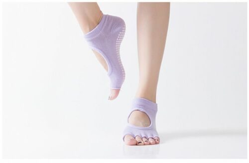 1 Pair Women Yoga Socks Anti Slip Sports Lady Gym Fitness Pilates Sock Slippers
