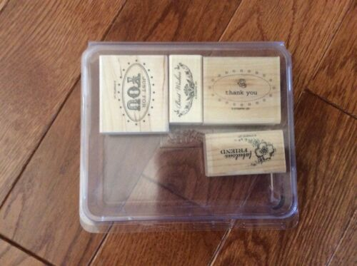 Stampin Stamp Sets Wood Mounted Retired