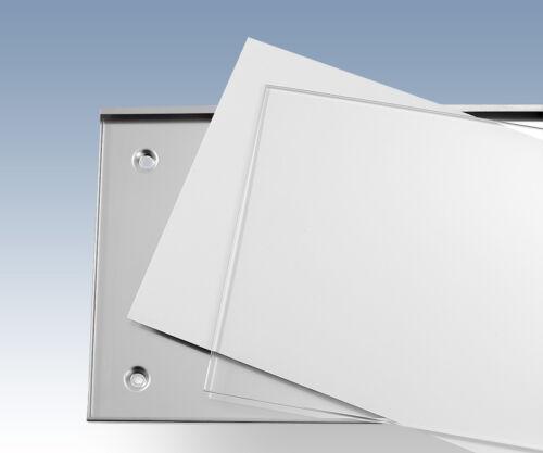420x420 Infotafel Büroschild Kassettenschild Wechselrahmen Werbung Edelstahl