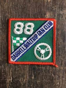 Vtg-Darrell-Waltrip-Fan-Club-3-Embroidered-Patch-Sew-On-Badge-NASCAR-Racing-88