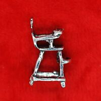 4 x Tibetan Silver 3D Baby High Chair Charm Pendant Finding Bead Making