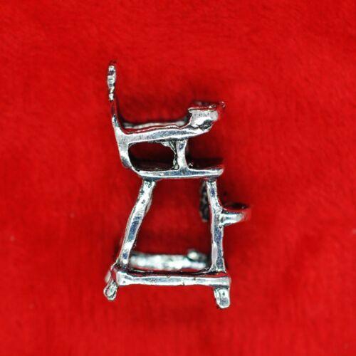 4 x Tibetan Silver 3D Baby High Chair Charm Pendant Finding Bead Making