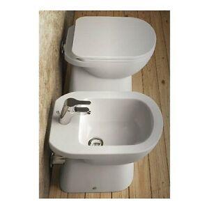 Sanitari a terra vaso wc sedile bidet gemma 2 ceramica - Sanitari bagno dolomite ...
