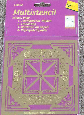 AVEC Erica Fortgens MULTISTENCIL Emboss Cut Embroider Stitch Prick 4.050.347