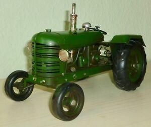 24,5cm Autos & Busse Stetig Traktor Trecker Blech Retro Vintage Standmodell Deko Länge Ca