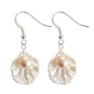 Fashion-Women-Pearl-Shell-Earrimng-Drop-Hook-Dangle-Earrings-Jewelry-Gifts-Hot