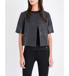 a164c2acd2dcb Image is loading Women-Short-sleeve-leather-jacket-Natural-Leather