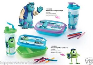 New-Tupperware-Monster-Inc-Sulley-amp-Mike-4-Pc-Lunch-Set-470ml-560ml