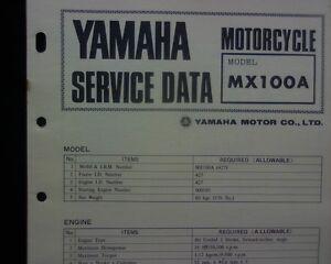 1973-74-Yamaha-MX100A-MX100-Service-Data-specification-booklet-Workshop-manual