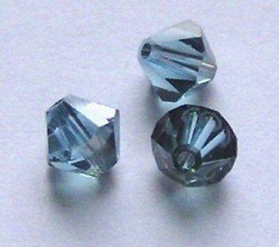 Swarovski bicone Austrian crystal beads Black Diamond AB2X choose 3mm 4mm