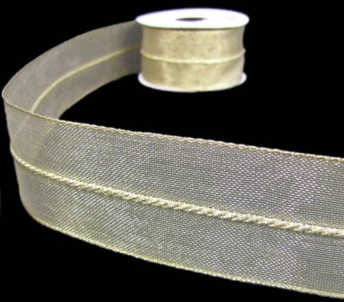 3 Yards Metallic Gold Twisted Rope Center Christmas Wired Ribbon 1 1/2W