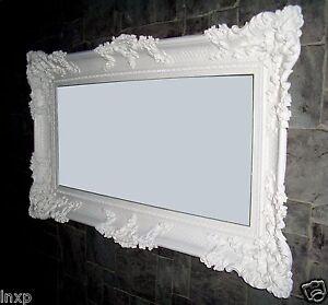 barock wandspiegel wei 96x57 antik spiegel rokoko luxuri s badspiegel deko wow ebay. Black Bedroom Furniture Sets. Home Design Ideas