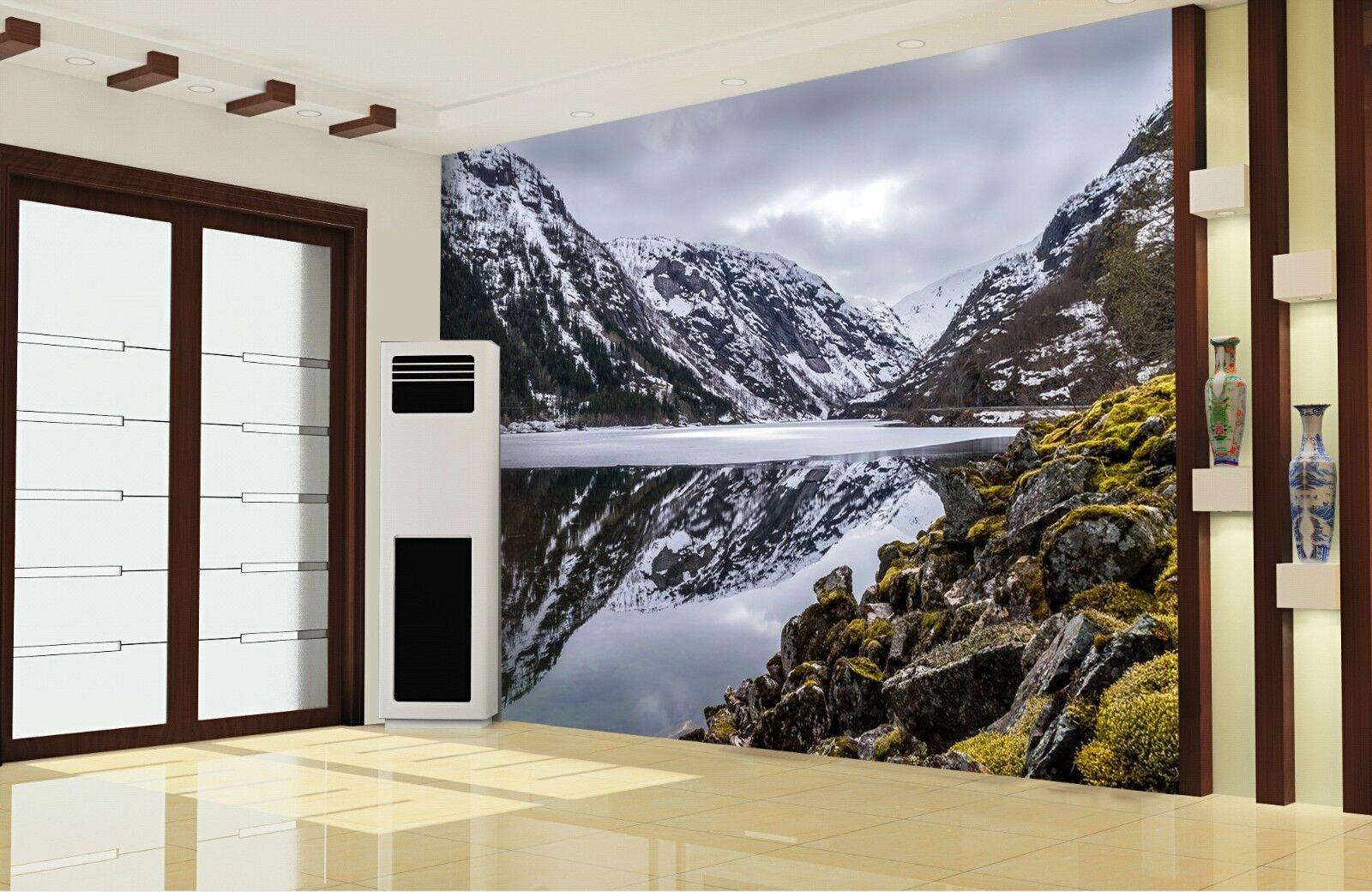 3D Mountain Lawn 834 Wallpaper Mural Wall Print Wall Wallpaper Murals US Lemon