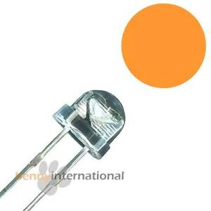 50x-5mm-AMBER-LED-Straw-Hat-Light-Diode-Orange-Yellow-Arduino-PIC-AUS-STOCK