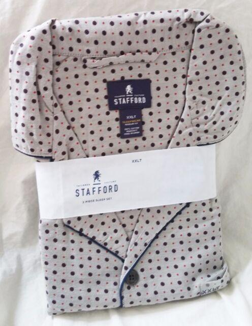 STAFFORD Pajamas - 2 Piece Sleep Set - Gray Medallion ($95 Retail)  - XXLT